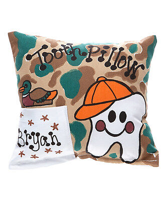 "Personalized ""Camo Tooth"" Camouflage Tooth Fairy Pillow"
