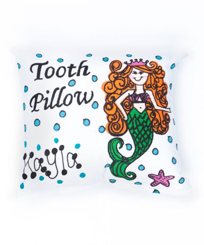 Personalized Mermaid Tooth Fairy Pillow