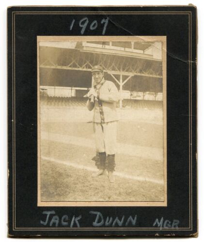 1907 Jack Dunn Baltimore Orioles Cabinet Photo Card