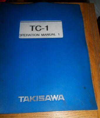 Takisawa Tc-1 Operation 1 Manual 1