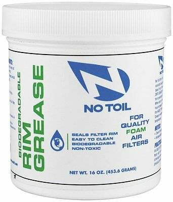 No Toil Rim Grease Tub 16 oz. Biodegradable Foam Air Filters & Box NT06 36070002