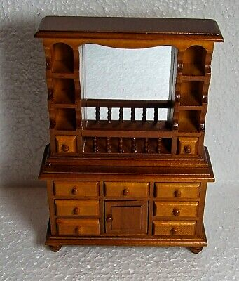Dolls House Miniature 1:12  Furniture Walnut Colour  Dresser