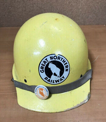 Vintage Great Northern Railroad Willson Fiberglass Hard Hat Free Shipping