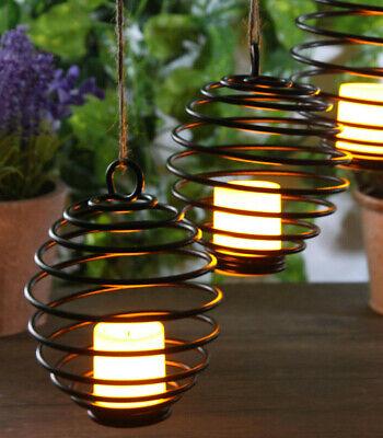2er Set LED Kerze zum Hängen und Stellen Windlicht Tischlampe Fensterdeko