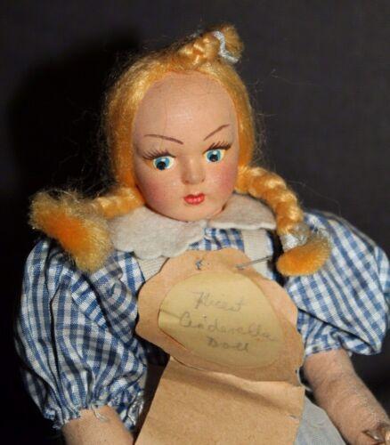 Vintage ARTIST MADE Cinderella CLOTH DOLL