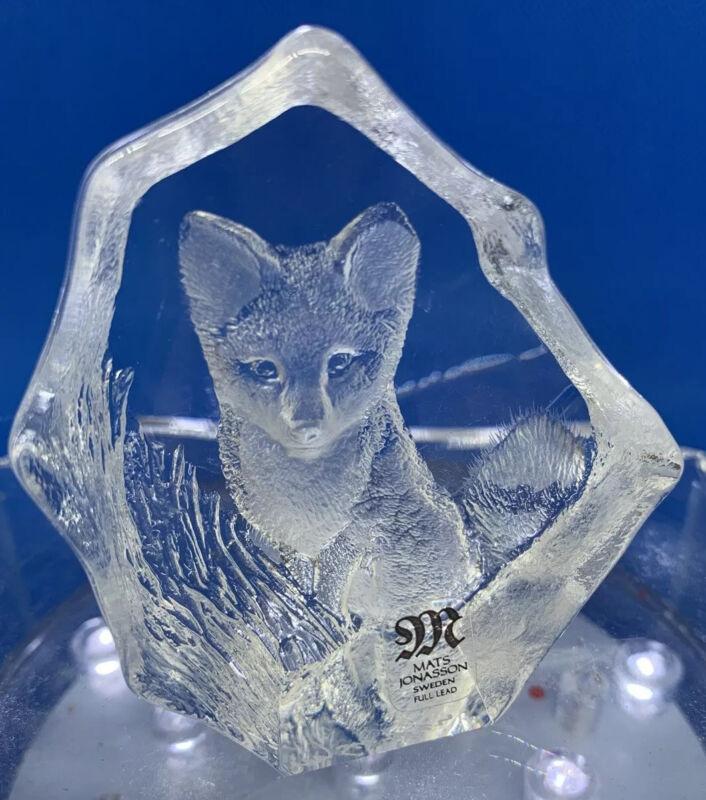 "Mats Jonasson Perfect Little Crystal Fox 2.5"" Tall"