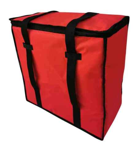 "Pizza Delivery Bags Thick Insulated (Holds up to Five 18"" Pizzas) Red"
