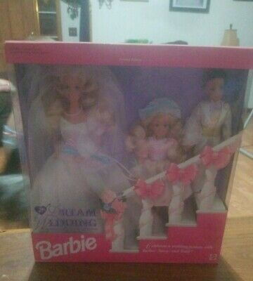 Dream Wedding Barbie Doll Limited Edition TOYS R US 1993 Mattel with Stacie Todd