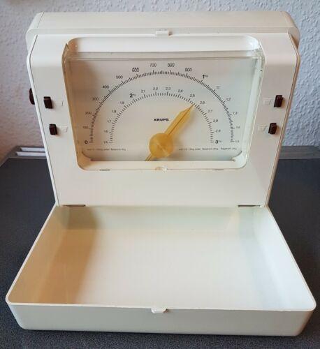 Krups Variogramm Wandwaage Weiß 70er Jahre 3 kg Vintage Küchenwaage Retro