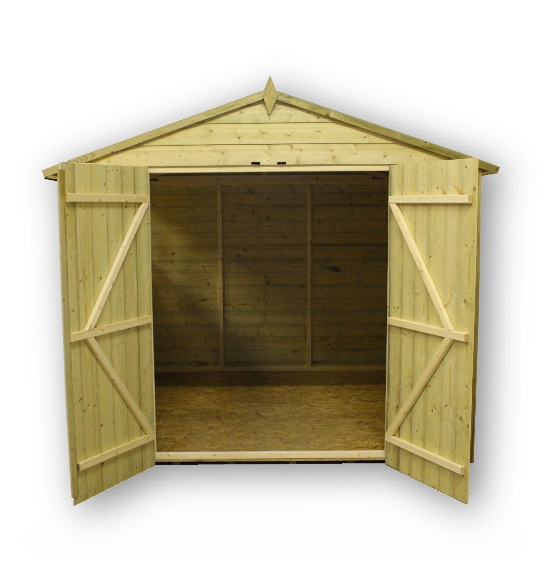 GARDEN SHED 8X8 SHIPLAP APEX TANALISED PRESSURE TREATED