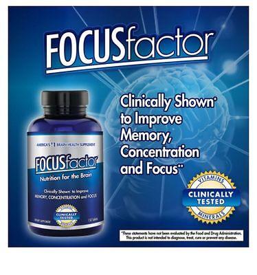 Focus Factor Brain Supplement 150 Ct  Memory Concentration  Focus  No Sales Tax