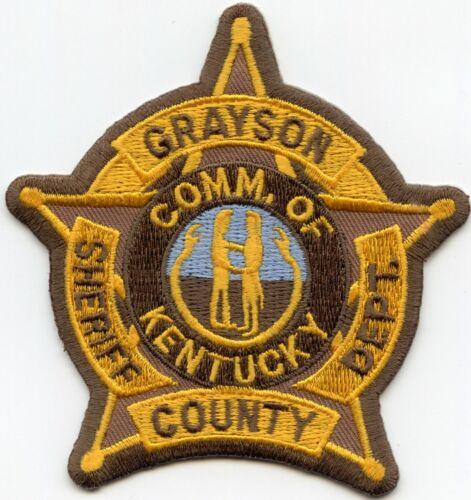GRAYSON COUNTY KENTUCKY KY SHERIFF POLICE PATCH
