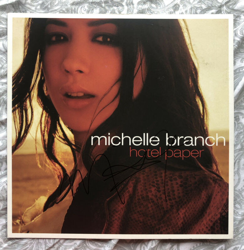 "2003 MICHELLE BRANCH HAND SIGNED 12"" PROMO POSTER FLAT"