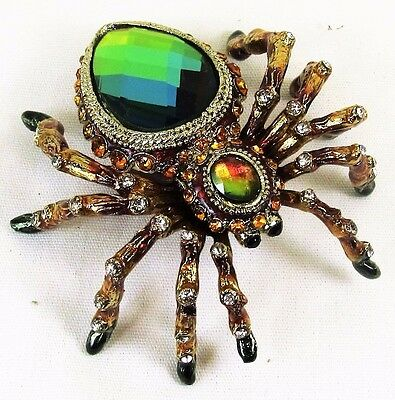 Spider Jeweled Pewter Trinket Box Wildlife Animals collectible decor