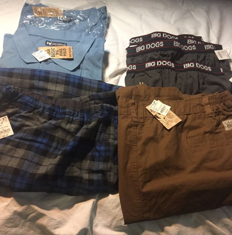 NEW BIG DOGS ASST 7PC MENS SIZE 5X CLOTHES LOT