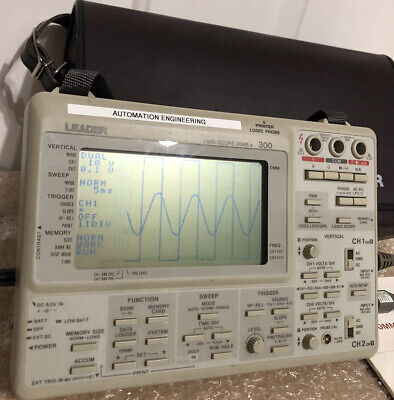 Leader Model 300 Dmmscope Portable Oscilloscope -used In Excellent Condition
