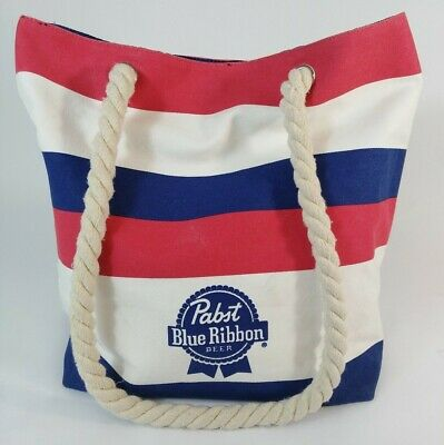 PBR Pabst Blue Ribbon Beer Tote Beach Gym Boat Outdoor Sailing Bag Purse
