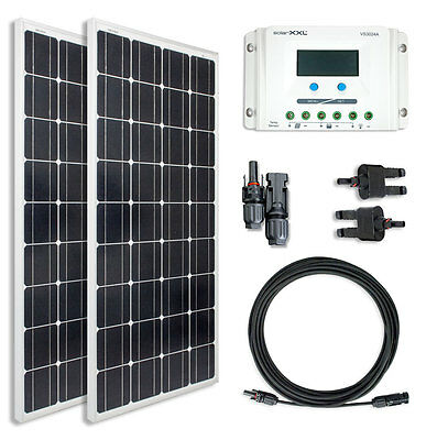 200W Komplettset 12V Solarmodul Mono Laderegler Kabel Solarpanel Solar solarXXL