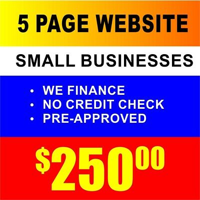 5 Page Custom Designed Small Business Website Hosting - Mobile Device Friendly