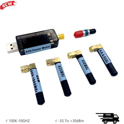 Usb 100k-10ghz Rf Power Meter V3.0 -55 To 30dbm 9 Attenuation Curves 0.96