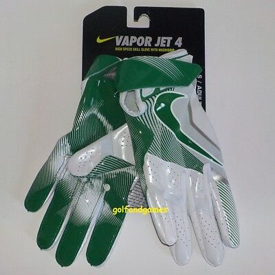 Nike VAPOR JET 4 Wide Receiver Gloves GREEN GF0491 108 Adult SMALL Fast Ship