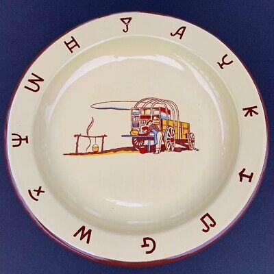 1950's Vintage MONTERREY WESTERN WARE Enamelware Cowboy Chuck Wagon Plate Dish