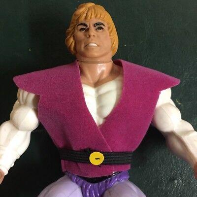 80S Custom Mattel Filmation Motu He Man Prince Adam Pink  Vest W  Belt  Only
