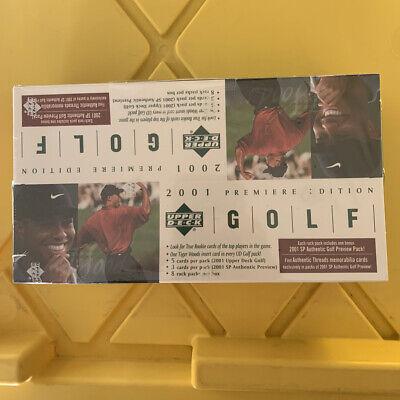2001 Upper Deck Rack Pack Golf Hobby Box Tiger Woods Rookie Rc