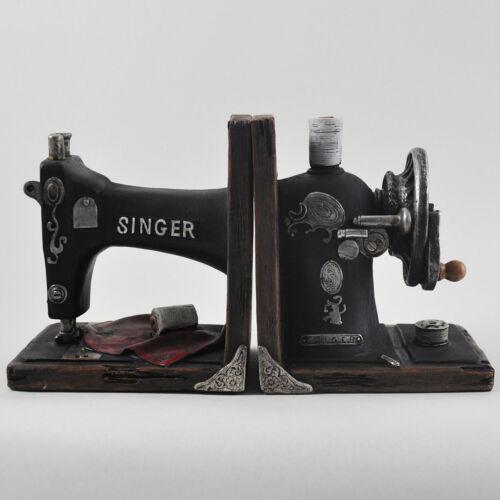 Vintage Singer Sewing Machine Book Ends | Resin Shelf Tidies