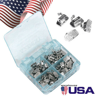 80pcspack Orthodontic Bonding Buccal Tubes 1st Molar Mbt 022 Non-convertable Us