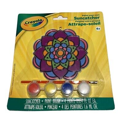 Paint Your Own (New Crayola Paint Your Own Window Suncatcher Flower Kit With Brush And)