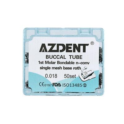 Dental Orthodontic Buccal Tube Split Welding 1st 2nd Molar Roth Mbt 022 018