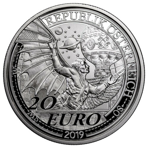 2019 Austria Reaching for the Sky Dream of Flight Silver Proof €20 Coin SKU58133