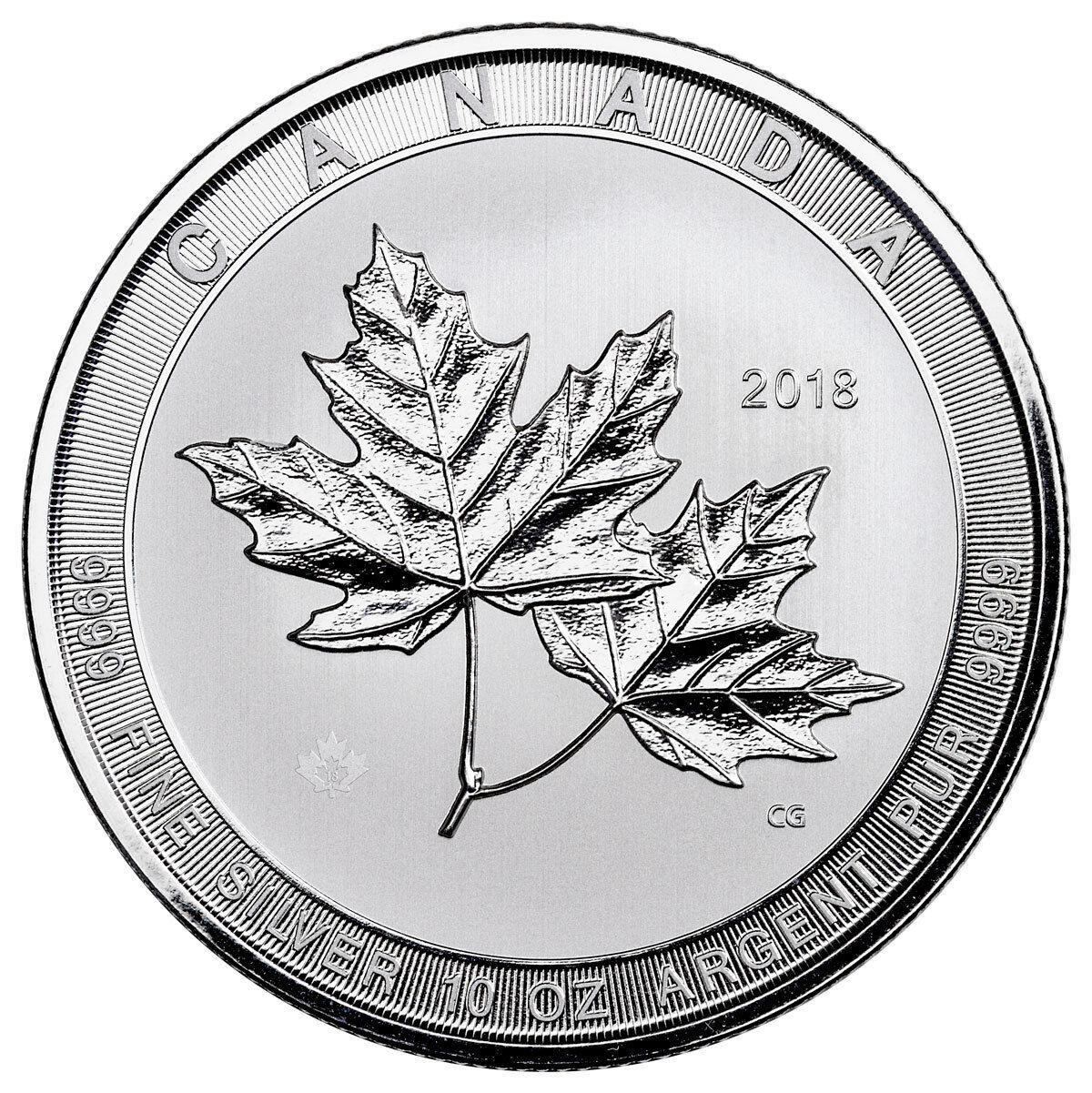 2018 Canada Magnificent Maple Leaves 10 oz. Silver $50 BU SKU53164