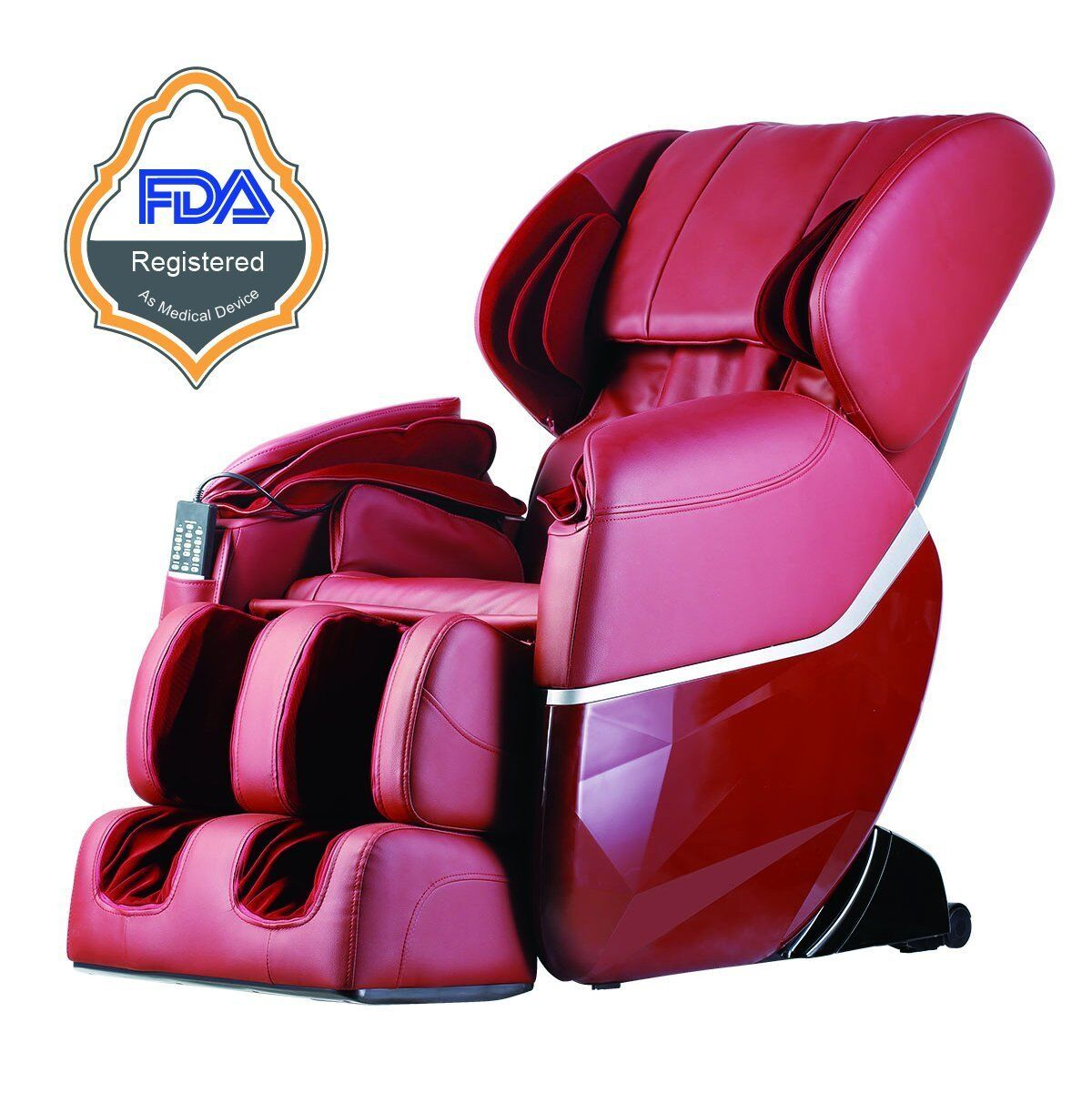New Electric Full Body Shiatsu Massage Chair Recliner Zero Gravity w/Heat 77 Burgundy
