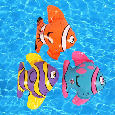 1PC Blow Up Inflatable Striped Fish Swimming Pool Beach Party Kids Toy Gift Prop](Blow Up Pool Toys)