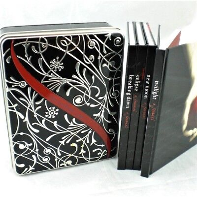 The Twilight Saga 4 Diary Journal Books Collection NEW in Collector Tin Box GIFT