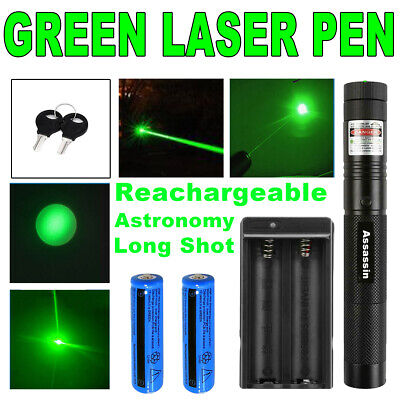 900miles Star 1 Mw Green Laser Pointer Rechargeable Lazer Torchbatterycharger