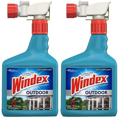 Windex Outdoor Window & Surface Concentrated Cleaner, 32 Oz Pack  of 2