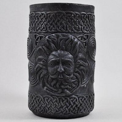 Black Pen Pot Gothic Celtic Decor Gift Idea Haloween Spook Magic Desk Tidy - Haloween Idea