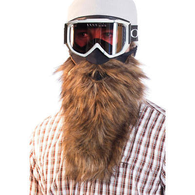 028267b00d96b Beardski Prospector Brown Insulated Thermal Ski Warm Winter Beard Face Mask  NEW