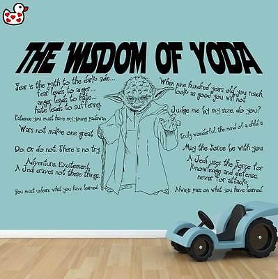 Personalised Star Wars Jedi Wall Art Boy Bedroom Darth Vader Force Awakens