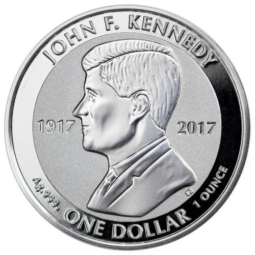 2017 British Virgin Islands Kennedy 1 oz Silver Reverse Proof $1 SKU47005