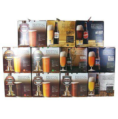 Festival Premium Ale Beer Kits - FULL RANGE - Home Brew Brewing