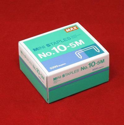 1 - 5000 Count Box Of Max No 10-5m Staples For Hd-10fl Mini Stapler