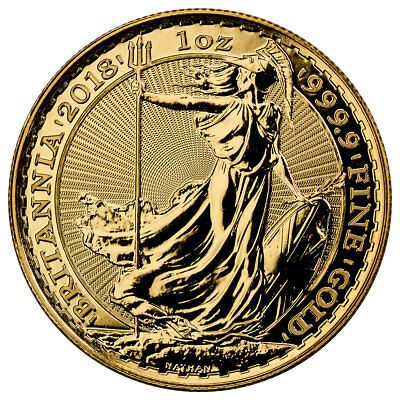 2018 Great Britain 1 Oz Gold Britannia  100 Coin Gem Bu Sku49807