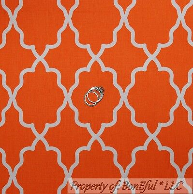 BonEful Fabric FQ Cotton Quilt Orange White Damask Pattern Print Halloween Fall](Boy Scout Halloween Crafts)