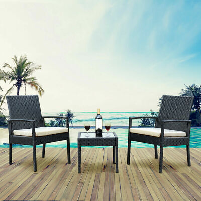 Garden Furniture - DEAL!!! 3 PS Outdoor Rattan Patio Furniture Set Backyard Garden Furniture