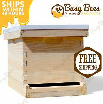Langstroth Bee Hive 10 Frame 1 Deep Box (Includes all Frames & Foundations)