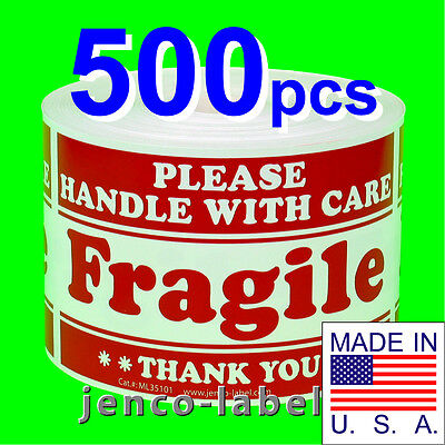 ML35101,500 3x5 Handle With Care Fragile Labels/Sticker on Rummage